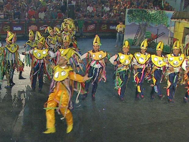 O terceiro lugar do festival ficou com a Lume da Fogueira, do RN (Foto: Reprodução/TV Globo)