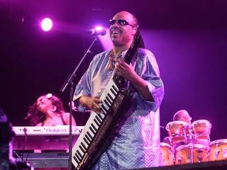 Stevie Wonder no Rock in Rio (Foto: Isac Luz / Ego)