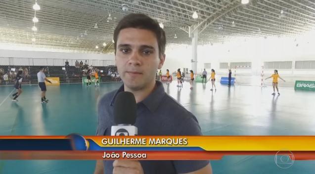 Reportagem de Guilherme Marques falou sobre o handebol feminino (Foto: Reprodução)