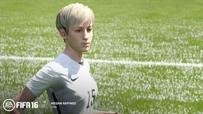 Rapinoe é uma das principais jogadoras da seleção dos EUA (Foto: Divulgação/EA)
