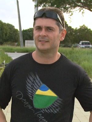 Antônio Wenzel foi o único roraimense que participou do salto em queda livre que bateu o recorde sul americano (Foto: TV Roraima)