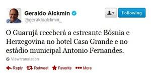 Geraldo Alckmin Guarujá (Foto: Reprodução)