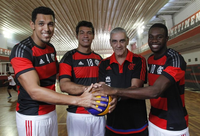 Jardel, Rafael, Arli e Robinho representarão o Fla na Superliga B (Foto: Gilvan Souza)