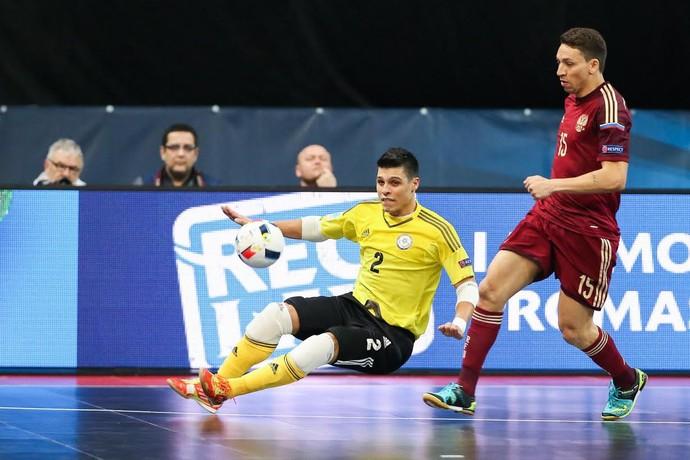 Léo Higuita Cazaquistão Uefa Futsal Euro (Foto: Divulgação/Uefa)