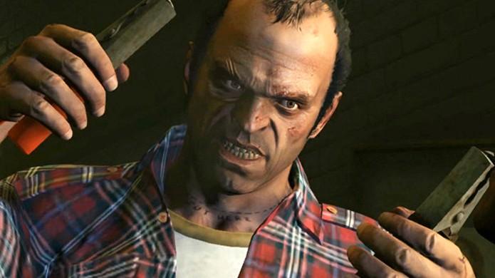 Alguns críticos consideraram a cena de tortura com Trevor em GTA 5 gráfica demais (Foto: Reprodução/StickSkills)