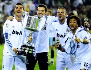 cristiano ronaldo taça real madrid campeão copa do rei (Foto: AFP)