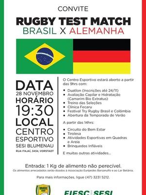 Rúgbi Brasil x Alemanha (Foto: Divulgação)