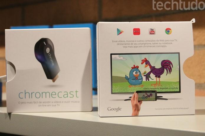 Chromecast chega ao Brasil tendo Galinha Pintadinha (Foto: TechTudo/Fabricio Vitorino)