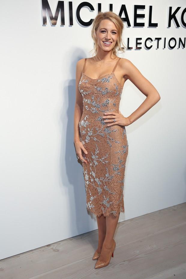 Blake Lively roubou a cena na semana de moda de Nova York (Foto: Getty Image)
