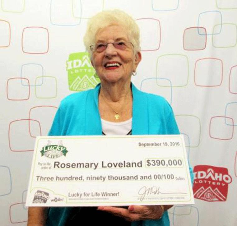 Rosemary Loveland (Foto: Idaho Lottery/Reprodução)
