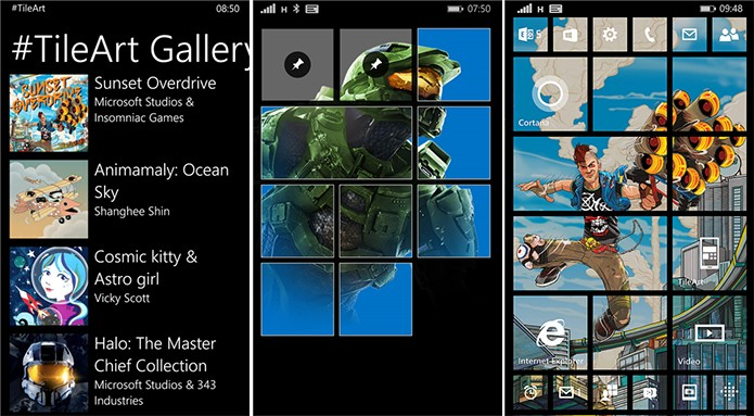 #TileArt é um aplicativo para personalizar a tela inicial do Windows Phone (Foto: Divulgação/Windows Phone Store)