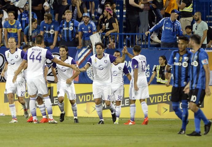 Kaká comemora gol do Orlando City (Foto: Reprodução de Twitter)