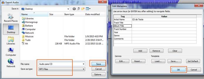 Salve o áudio em MP3 (Foto: Reprodução/Barbara Mannara)
