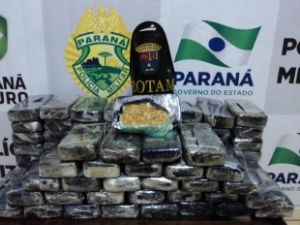 Polícia faz apreensão recorde de crack em Maringá, no norte do Paraná (Foto: Divulgação/PRE)