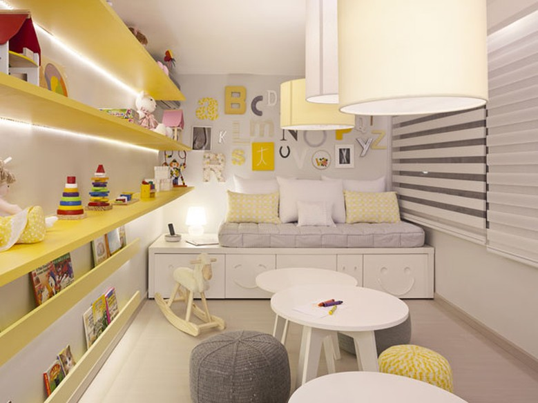 decoracao de quarto de bebe azul e amarelo:Decoração de quarto de bebê e criança: tons neutros para meninos e