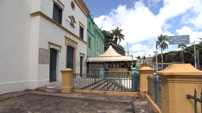 Igreja de Santo Antônio da Mouraria foi uma das primeiras construções da região (Foto: TV Bahia)