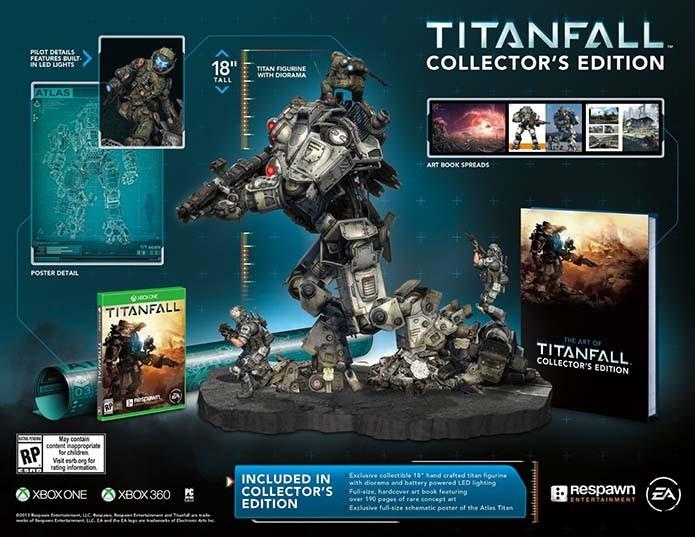 Titã de 45cm é destaque da edição do exclusivo para Xbox (Foto: Divulgação/Respawn Entertainment)
