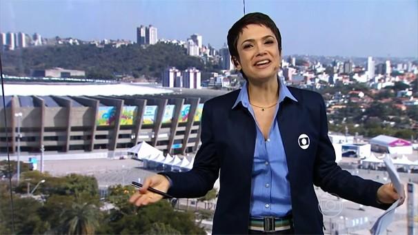 Sandra Annenberg apresenta cobertura especial do dia do jogo Brasil x Chile, neste sábado, a partir das 8h (Foto: Globo)