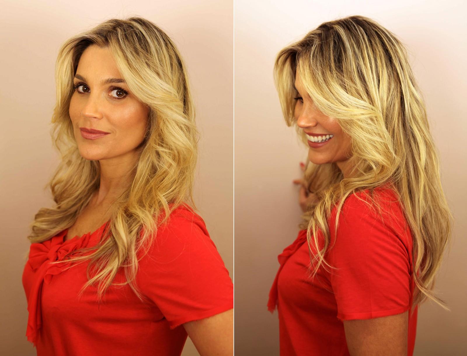 Flavia Alessandra usa luzes em loiro claro em quase todo o cabelo (Foto: Blog do Pro)