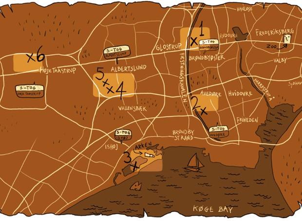 mapa-esculturas-gigantes-de-madeira-thomas-dambo-dinamarca (Foto: Reprodução/Thomas Dambo)