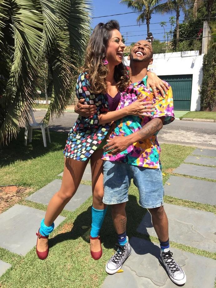 Tainá e Nego são amigos de longa data  (Foto: Arquivo Pessoal)