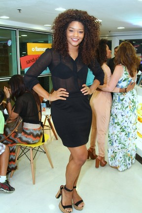 Juliana Alves em evento na Zona Sul do Rio (Foto: Anderson Borde/ Ag. News)