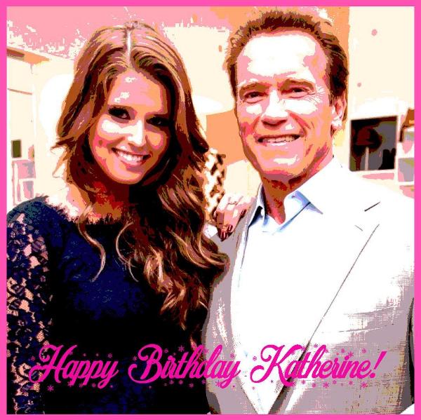 Arnold Schwarzenegger  com a filha aniversariante (Foto: Instagram)