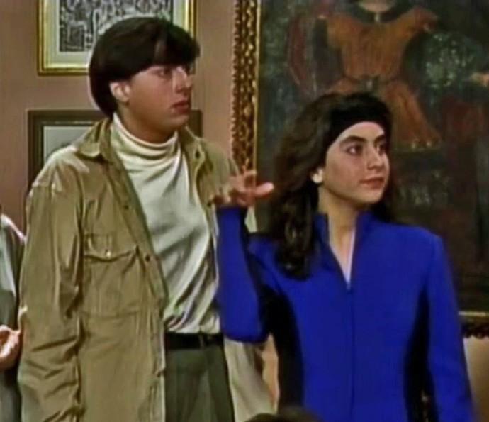 Rodrigo Penna e Carol Machado foram irmãos na novela 'Vamp', em 1991 (Foto: TV Globo)