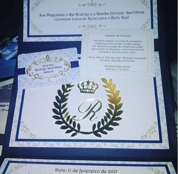 Convite da festa de Rodriguinho (Foto: Reprodução/Instagram)