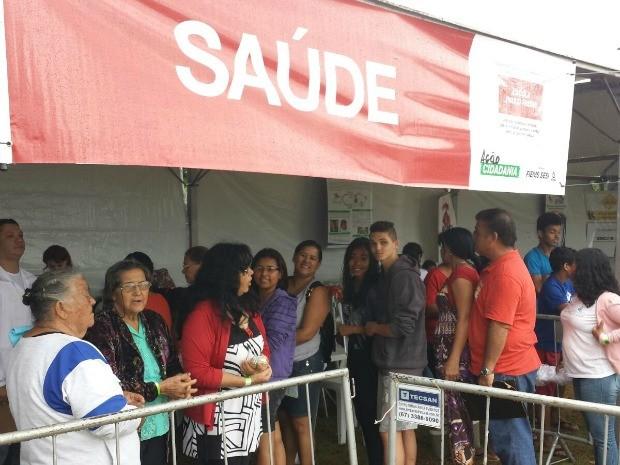 Santa Luzia recebe 3ª edição do Ação Cidadania (Foto: Alexandre Cabral/ TV Morena)