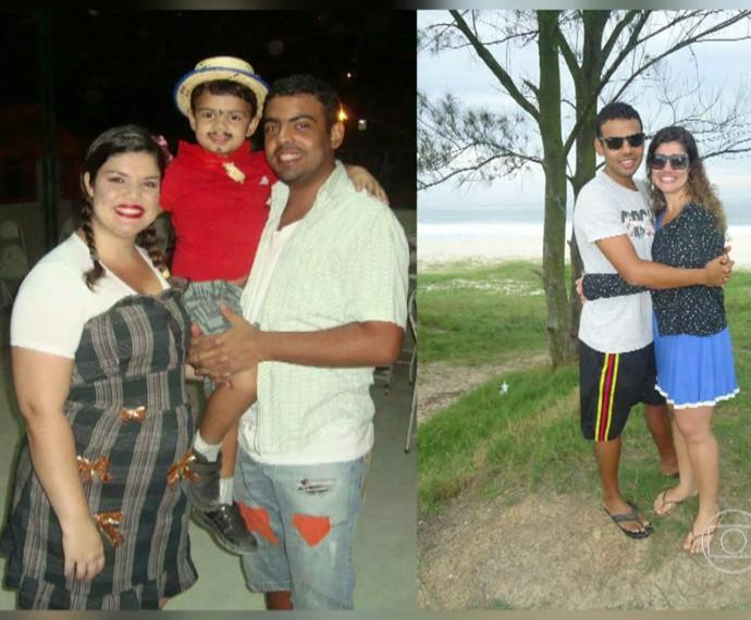 Veja o antes e depois do casal Natália e Rafael (Foto: TV Globo) (Foto: TV Globo)