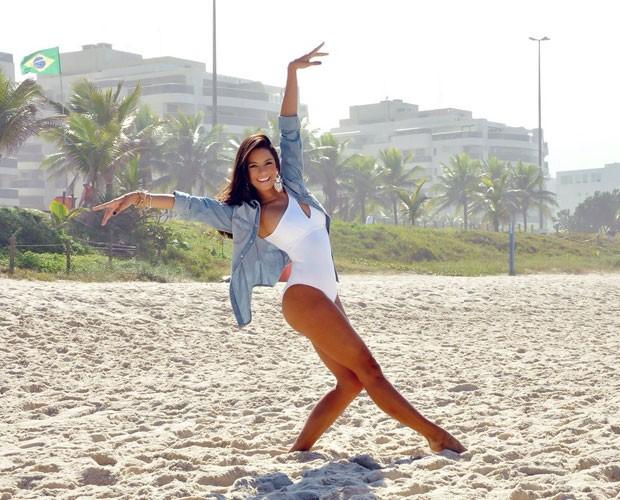 Morena afirma que é um sonho estar no Balé do Faustão (Foto: Leandro Taccilo)