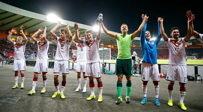 Alemanha Escócia comemoração (Foto: Reuters)