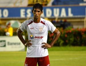 Deivid fez os dois gols do Sergipe (2) (Foto: Felipe Martins/GLOBOESPORTE.COM)