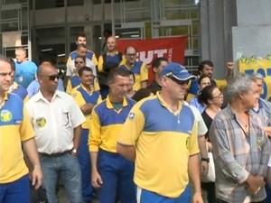 Apenas 8,6% dos funcionários entraram em greve em SC (Foto: Reprodução/RBS TV)