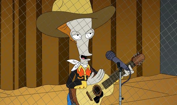 Roger disfarçado de cantor country (Foto: Divulgação / Twentieth Century Fox)