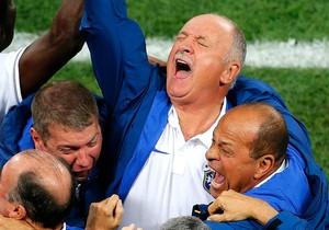 Felipão Scolari comemoração gol jogo Brasil x Croácia (Foto: Reuters)