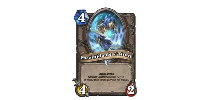 Escolhida de C'thun é uma excelente criatura na nova expansão de HearthStone (Foto: Divulgação/Blizzard)