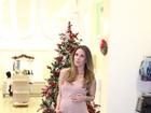 Lizi Benites, prestes a dar à luz, inaugura loja infantil