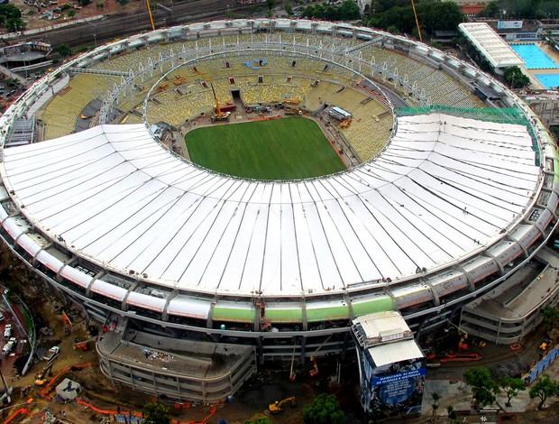 Obras estádio maracanã (Foto: Genílson Araújo / O Globo)