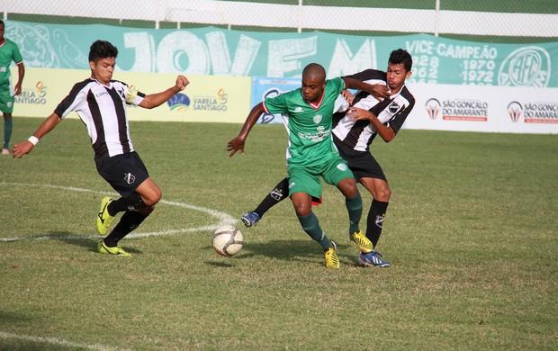 Alecrim e ABC empataram na segunda rodada do returno do Estadual Sub-20 (Foto: Gabriel Peres/Divulgação)
