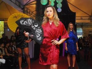 Modelos participaram de desfiles de lingerie (Foto: Ascom Cordeiro/Divulgação)