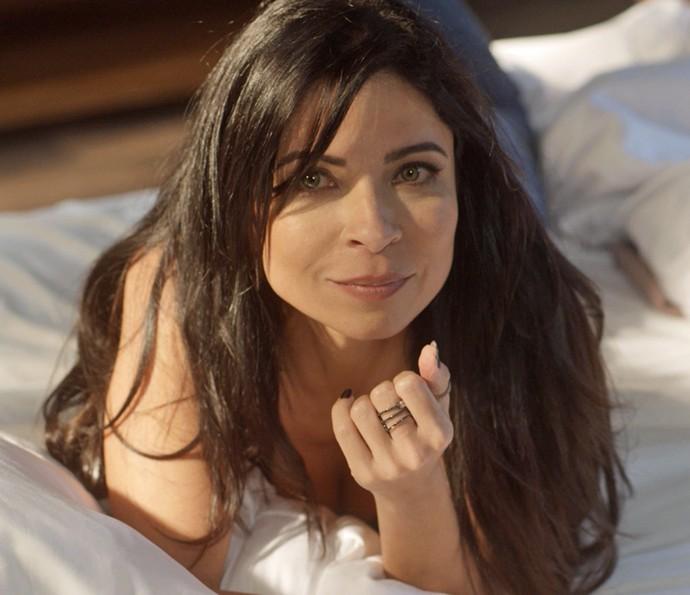 Anna Lima grava primeira cena em 'Sol Nascente' (Foto: TV Globo)