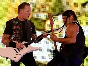 A banda de metal Metallica, que se apresenta no início da madrugada desta sexta-feira,  foi fundada em Los Angeles em 1981. (Foto: Flavio Moraes/G1)
