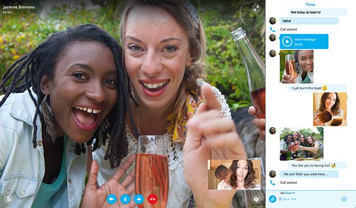 Chamadas de vídeo poderão conviver com chat na mesma janela (Foto: Divulgação)