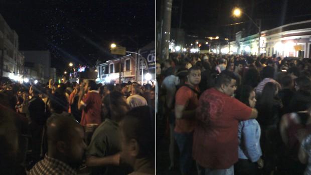Foliões aproveitam festa no bairro Cidade Baixa (Foto: Vinicius Rebello/G1)