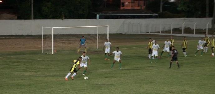 Timon, gol Laércio (Foto: Reprodução/TV Clube)