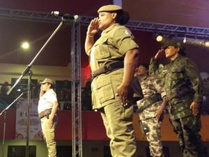 Policiais fazem parte da seção de Artes da corporação (Foto: Ale Corpani/Acervo pessoal)