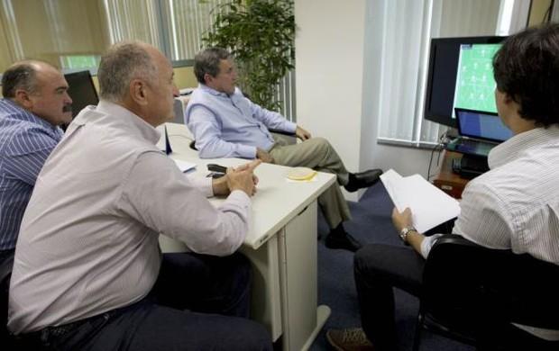 Luiz Felipe Scolari, Parreira e Murtosa na CBF (Foto: CBF)
