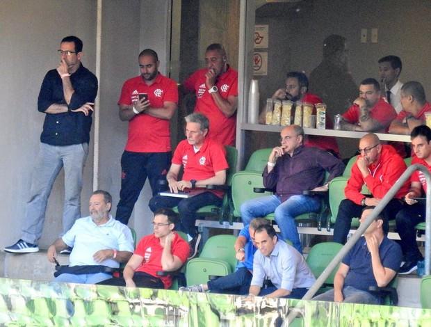 Diretoria do Flamengo na Arena Palmeiras